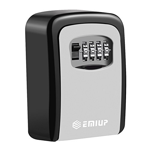 Schlüsseltresor,EMIUP[Wandmontage] Schlüsselsafe Schlüsselbox mit 4-stelligem Zahlencode für Häuser, Büros, Fitnessstudios, Fabriken Schlüssel-Hohe Sicherheit