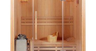 Home Deluxe Traditionelle Sauna Skyline L Holz 310x165 - Home Deluxe - Traditionelle Sauna - Skyline L - Holz: Hemlocktanne - Maße: 120 x 150 x 190 cm - inkl. komplettem Zubehör