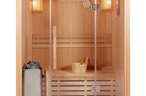 Home Deluxe - Traditionelle Sauna - Skyline L - Holz: Hemlocktanne - Maße: 120 x 150 x 190 cm - inkl. komplettem Zubehör