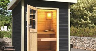 Gartensauna Karibu Pultdach Saunahaus Torge grau ohne Saunaofen 310x165 - Gartensauna Karibu Pultdach Saunahaus Torge grau ohne Saunaofen