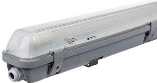 Mueller Licht LED Feuchtraumleuchte 60 cm fuer hoechsten Lichtkomfort schoenes neutralweisses 310x165 - Müller-Licht LED-Feuchtraumleuchte 60 cm für höchsten Lichtkomfort - schönes neutralweißes Licht (4000 K) für optimale Arbeitsbeleuchtung - 1 x 10 W LED-Röhre - IP65 - grau